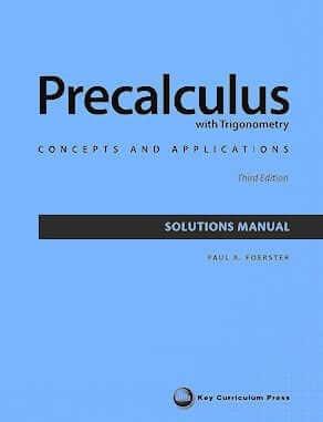 Foerster's Precalculus with Trigonometry: Teacher Edition
