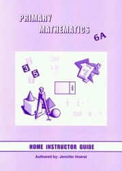 Singapore Primary Math Home Instructor's Guide: 6A