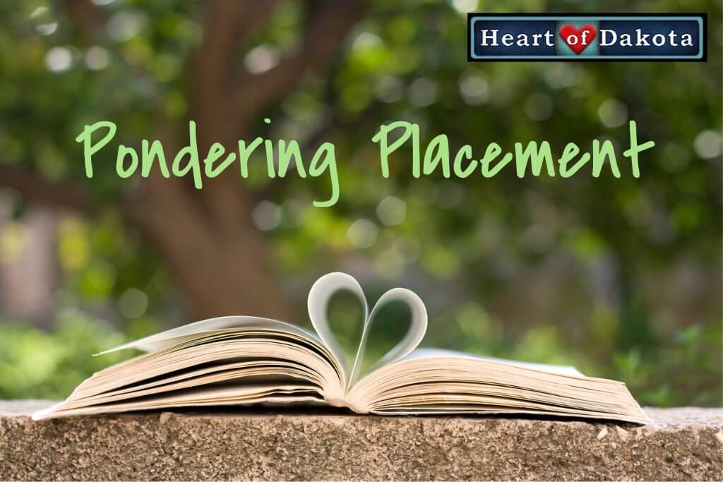 Guide Placement for My 5 ½ Year Old Kindergarten Son in Heart of Dakota Homeschooling