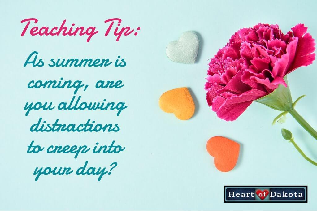 Heart of Dakota - Teaching Tip Blog