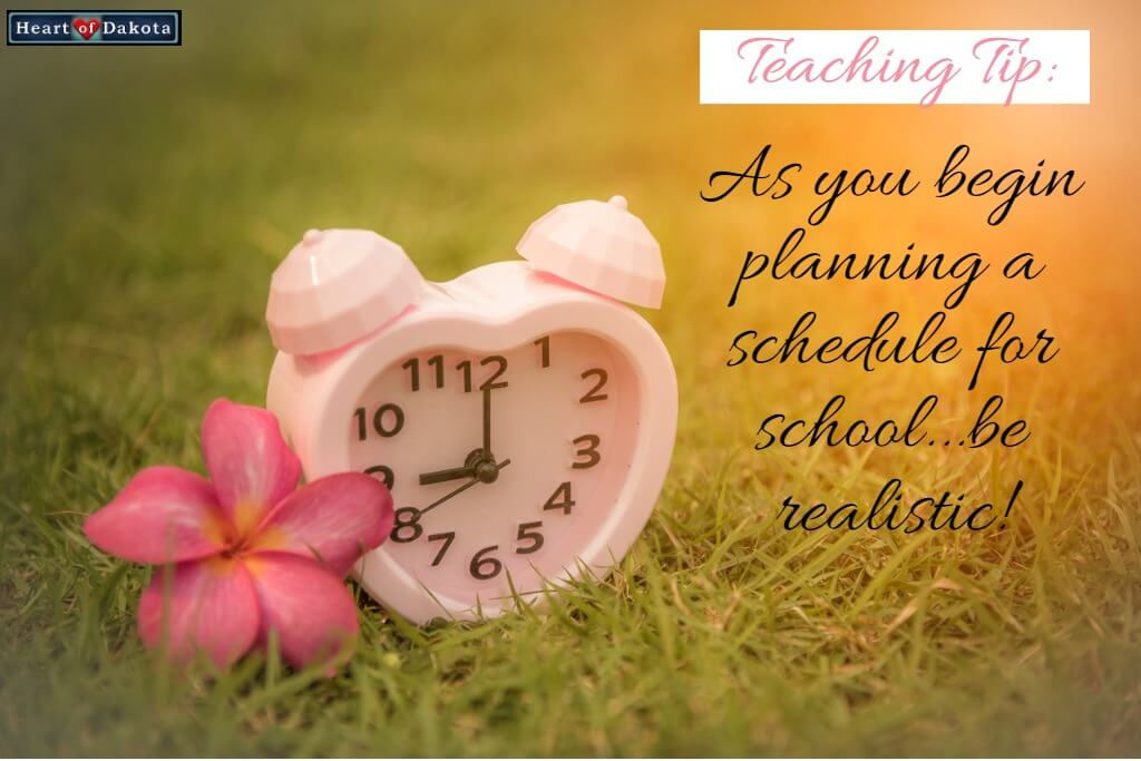 As you begin planning a schedule for school…be realistic!