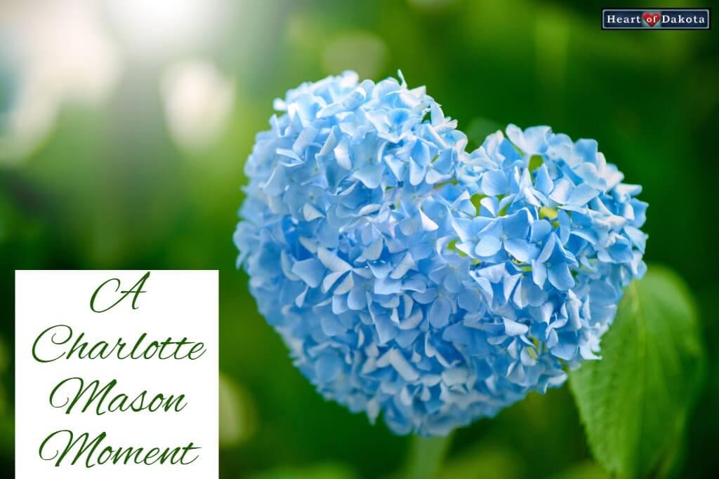 Heart of Dakota Charlotte Mason Moment writing lesson