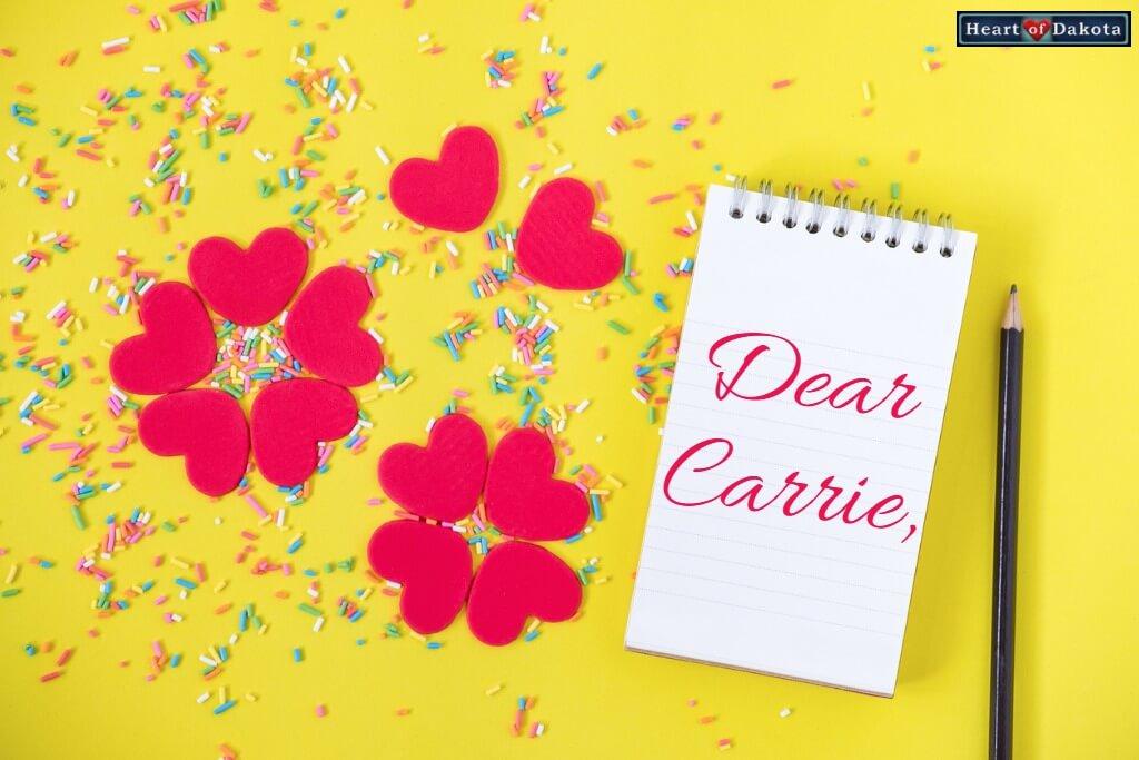 Heart of Dakota Dear Carrie Typed Key Word