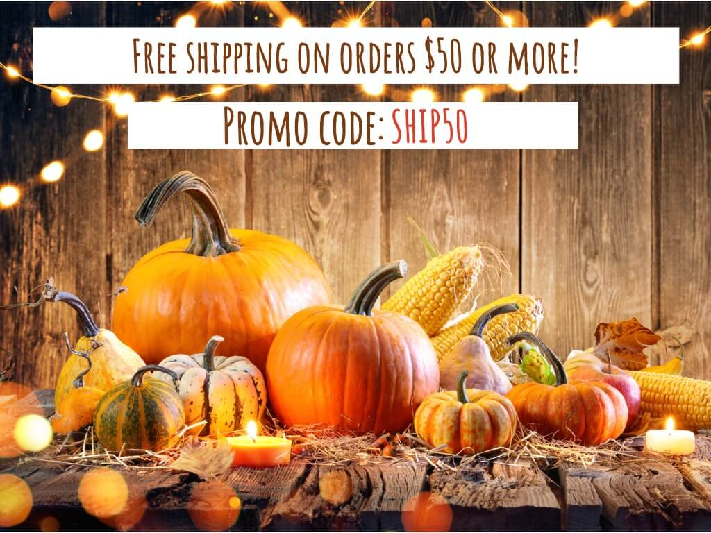 One week only! Use code SHIP50 for free shipping on orders over $50!