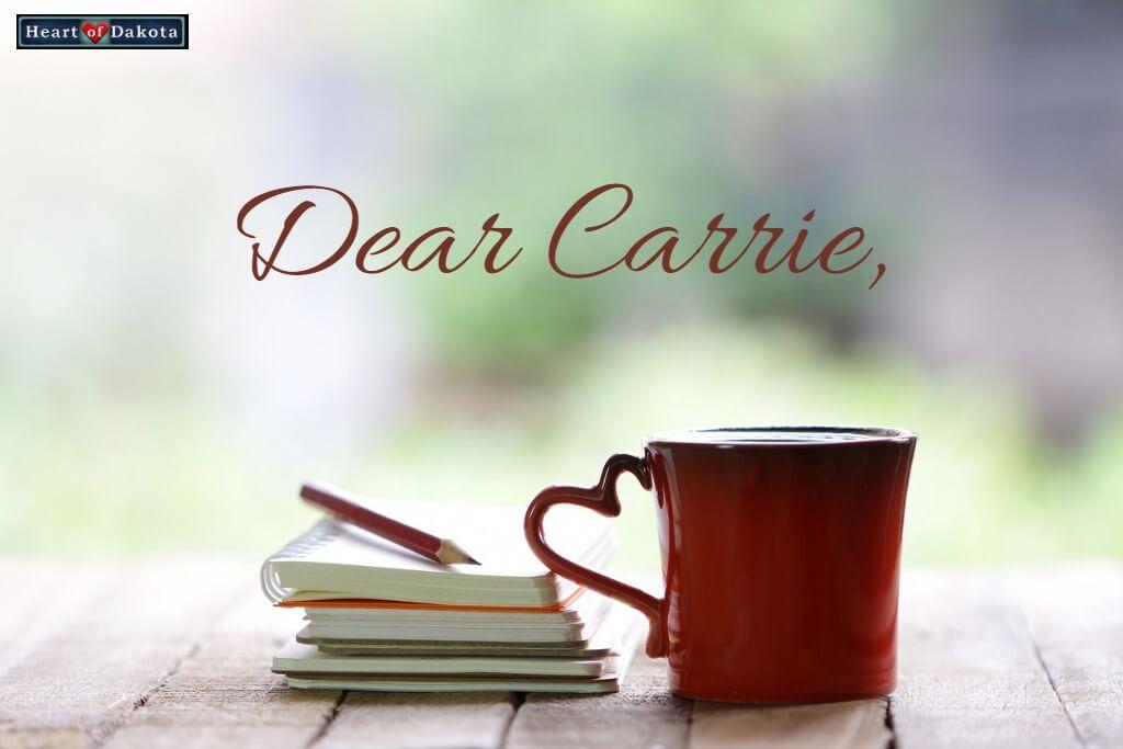 Heart of Dakota Dear Carrie Proper Noun Orally
