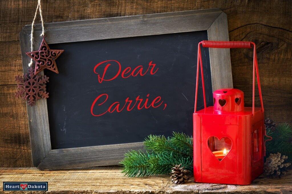 Heart of Dakota Dear Carrie Storytime Reddy Fox