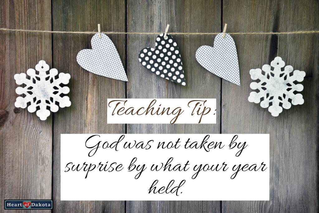 Heart of Dakota Teaching Tip Year 2018