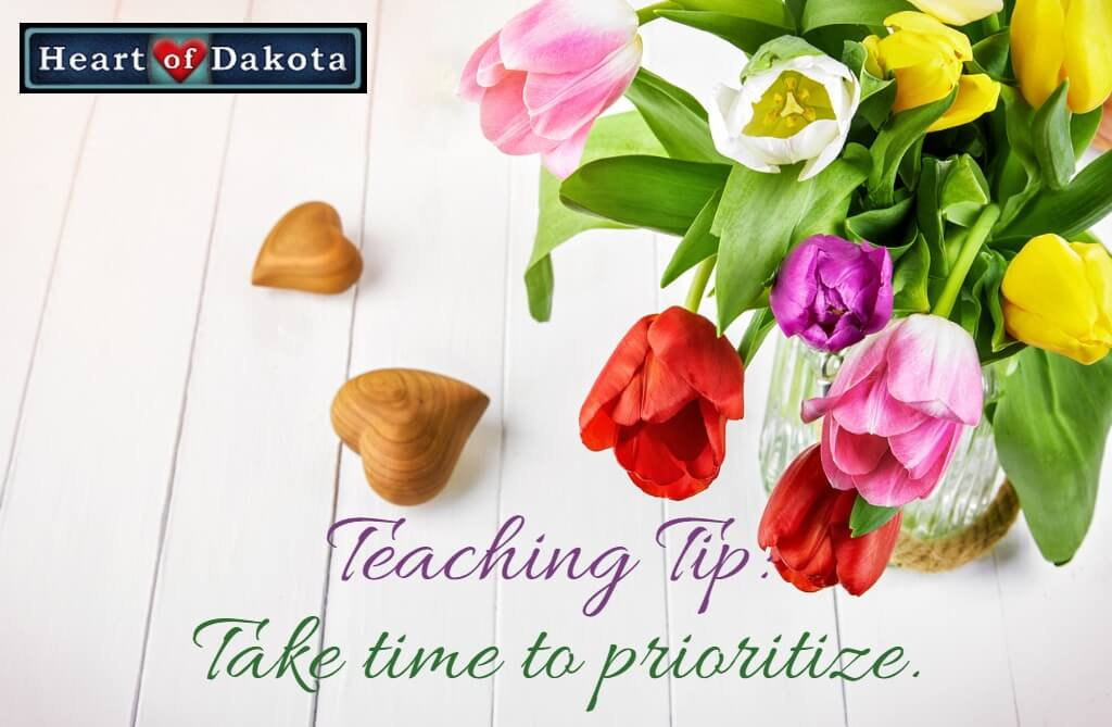 Take time to set priorities!