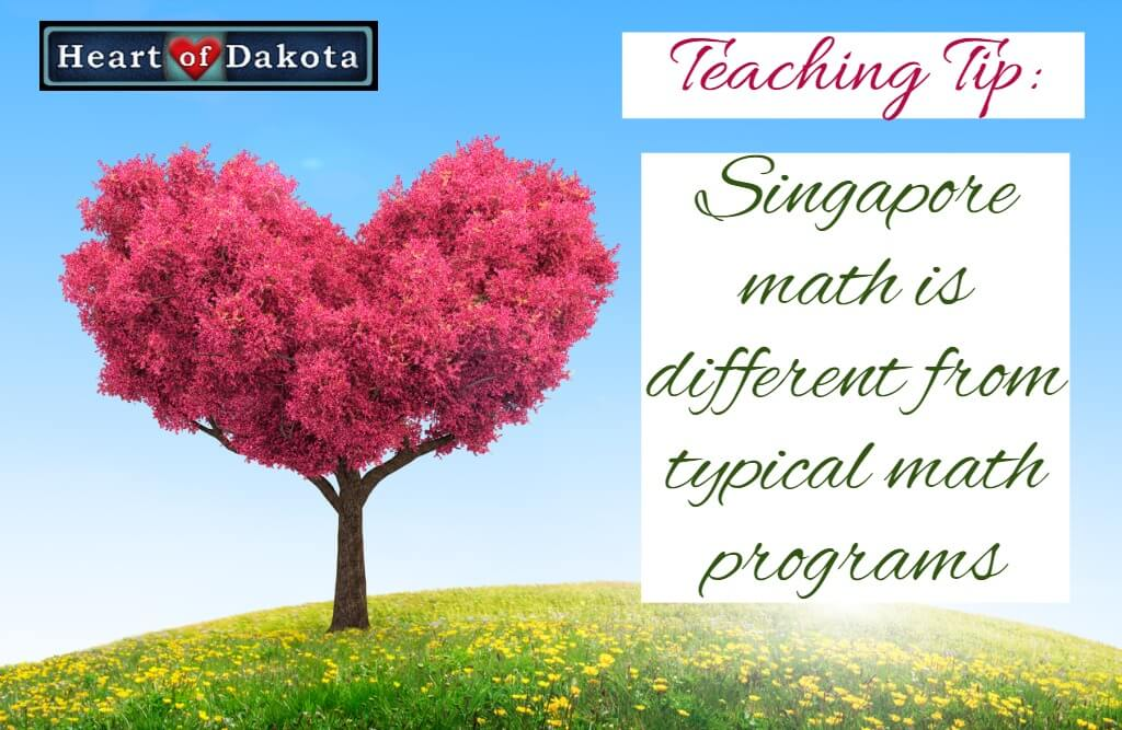 Singapore math is different from typical math programs.