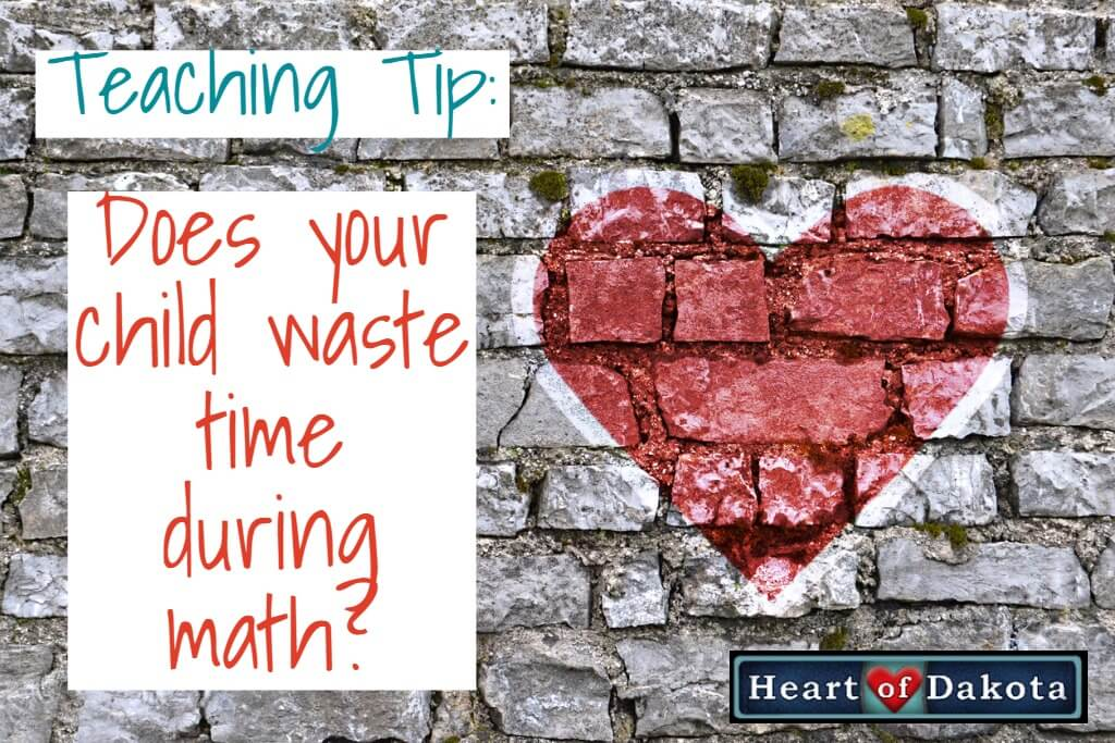 Does your child waste time during math?