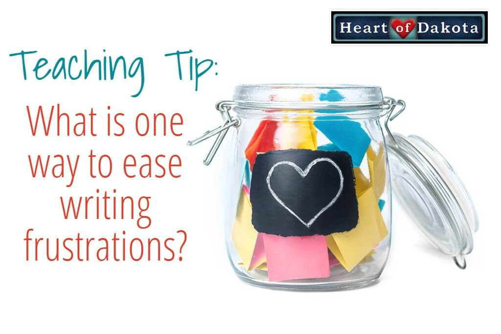 Heart of Dakota - Use a markerboard to ease writing frustrations in math!