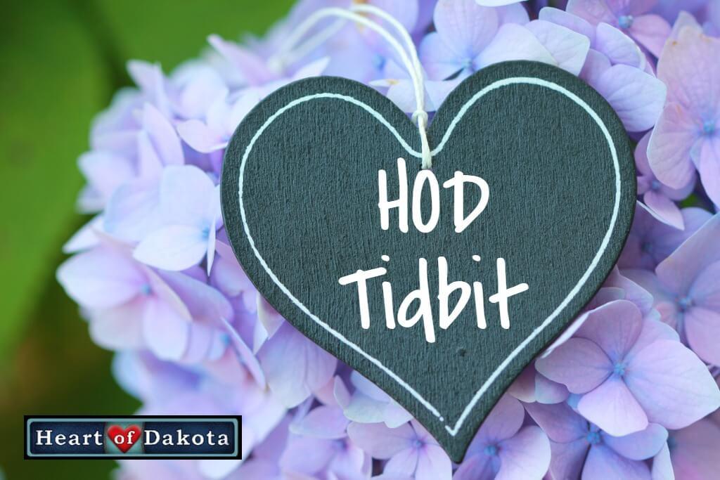Heart of Dakota Tidbit - Rod and Staff Grammar