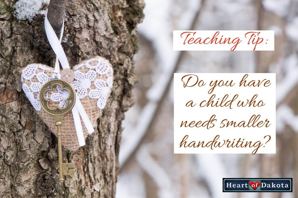 Do you have a child who needs to transition to smaller handwriting?