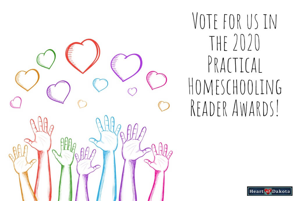 Vote for us in the 2020 Practical Homeschooling Reader Awards!