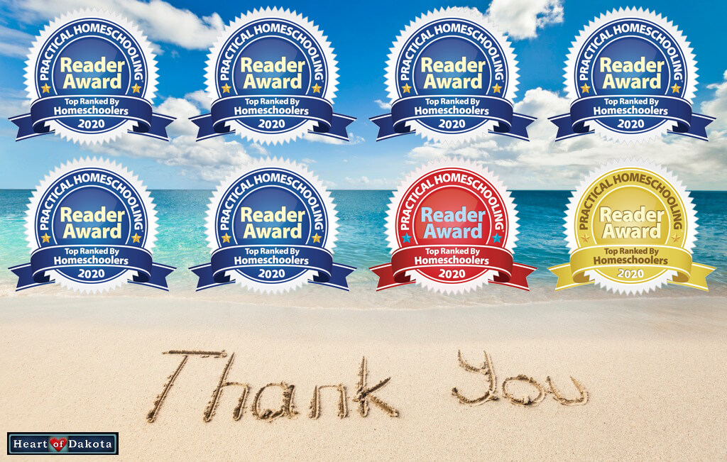 2020 Practical Homeschooling Reader Awards - Heart of Dakota