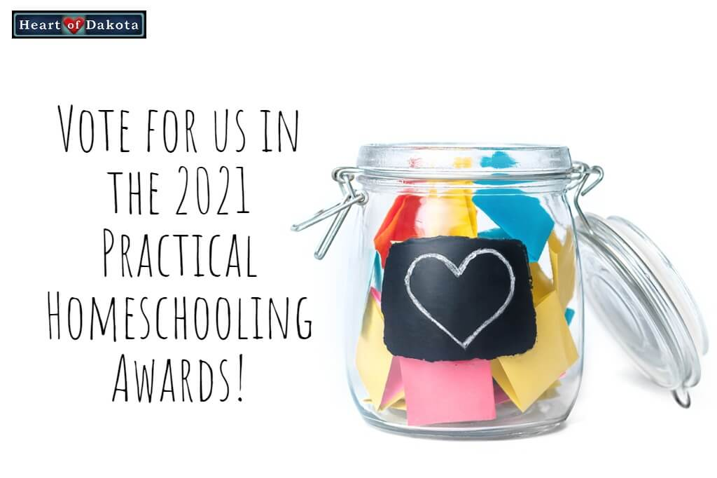 Vote for us in the 2021 Practical Homeschooling Reader Awards!