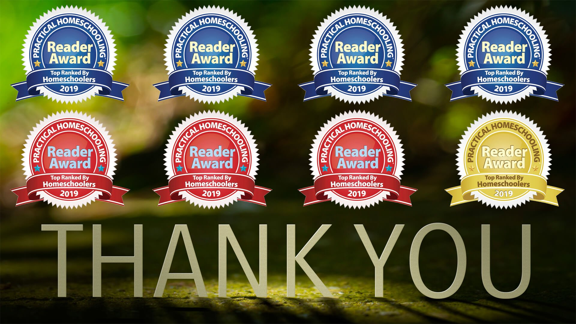 Thank you for voting for us in the 2019 Practical Homeschooling Awards!
