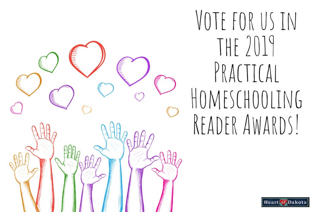 Vote for us in the 2019 Practical Homeschooling Reader Awards!