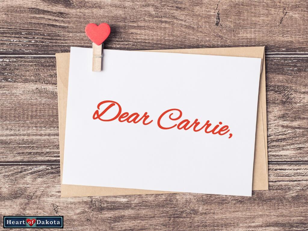 Heart of Dakota - Dear Carrie - Dr. Jay Wile Chemistry
