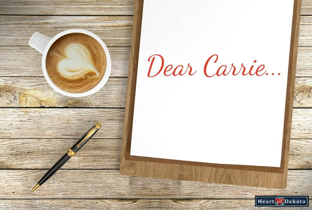 Heart of Dakota - Dear Carrie - Two Questions About Typed Oral Narrations